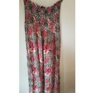 Cheetah floral dress xl NWT
